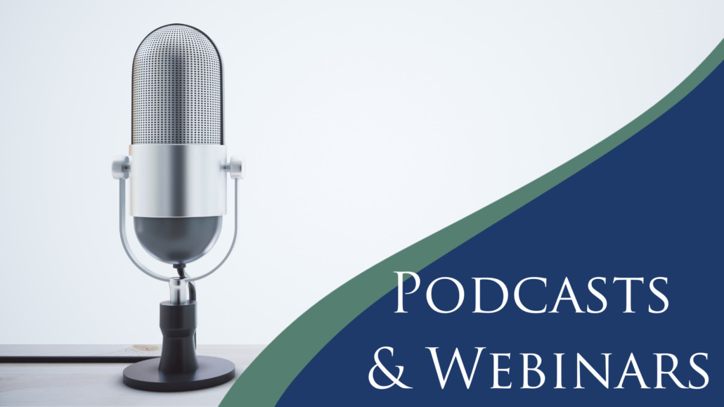 Podcast and webinars graphic