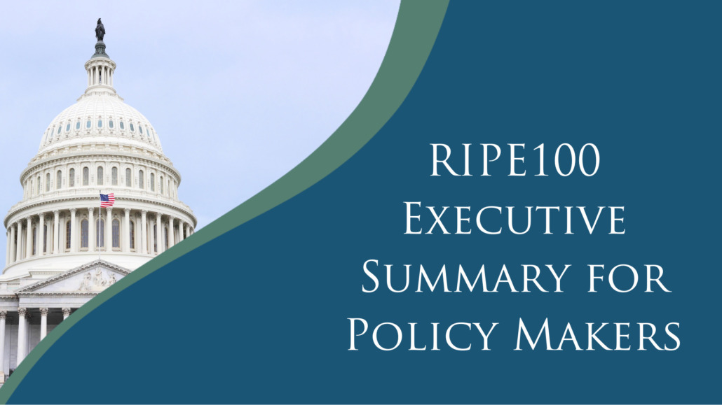 RIPE100 White Paper executive summary for policy makers